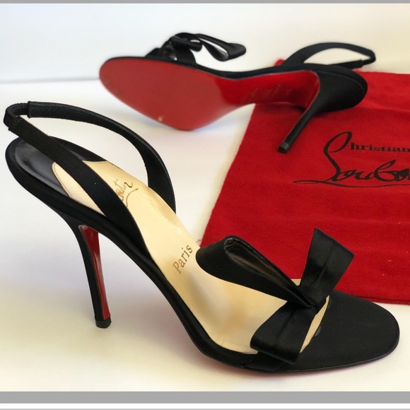 c72d04246 Christian Louboutin Shoes - Christian Louboutin Satin Heels Grusanda Sandals